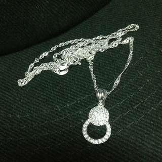 Genuine 925 Sterling Italy Silver Elegant Necklace