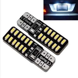 T10 W5W 24SMD White Super Bright LED Canbus Built 2PC
