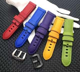 PANERAI 24MM Rainbow Series Leathers Watch Strap