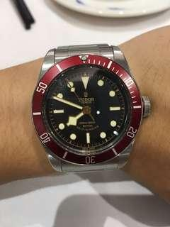 tudor black bay red 紅蛙 細花