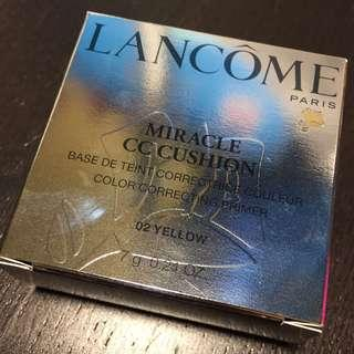 全新 LANCOME MIRACLE CC CUSHION 氣墊妝前底霜 (02 YELLOW) 7g