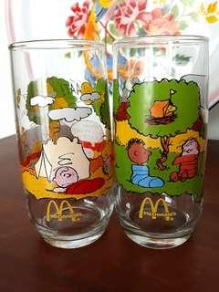 Vintage 1983 Mcdonald's Camp Snoopy Collection Drinking Glass / Tumbler