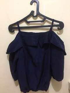 Atasan Navy blouse sabrina