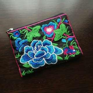 Vietnamese Floral Embroidered Pouch