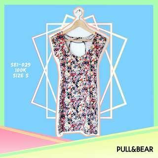 Pull & Bear Floral Bodycon Dress