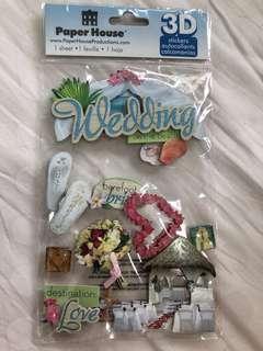 Beach Wedding stickers