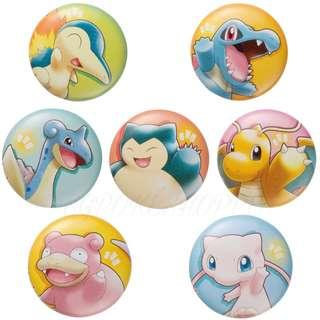 [PO] ASSORTED CAN BADGES [POKEMON WITH YOU] - POKEMON CENTER EXCLUSIVE