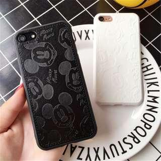 mickey mouse phone case (pu leather)