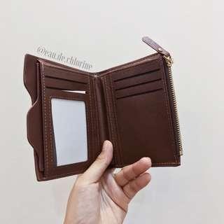 Paula Brown Wallet Brown Leather Wallet Foldable Wallet
