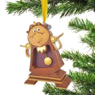 Japan Disneystore Disney Store Christmas 2018 Cogsworth Ornaments Preorder