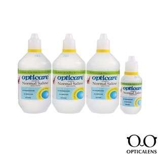 Opticare Normal Saline 500ml x 3 120ml x 1