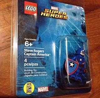 Lego Minifigure Captain America Marvel Exclusive Lego Captain America Minifigure Rare San Diego Comic Convection