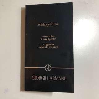 Giorgio Armani ECSTASY SHINE LIP CREAM 全新凝亮修護唇膏 lipsticks