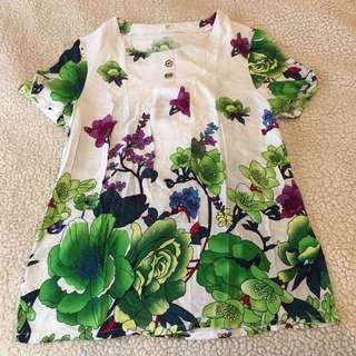 Bright Floral Patterned Blouse