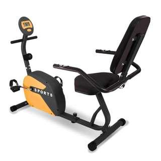 Alat Olahraga Recumbent Bike Sports ID 18R Wrna Orange Spt Kettler