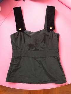 See by Chloe top black vest cami