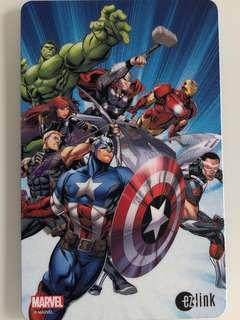 Limited edition brand new Marvel Avengers latest design Ezlink card for sale .