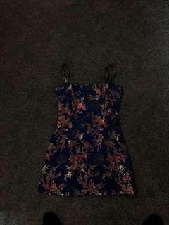 oriental straight cut dress