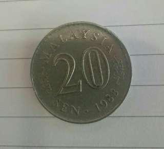 1988 - Syiling lama 20sen