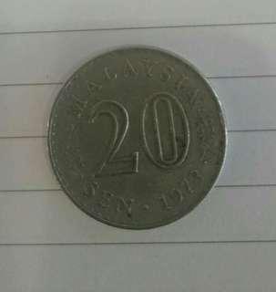 1973 - Syiling lama 20sen