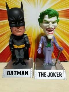 Funko dc universe wacky wobbler bobble head batman and joker