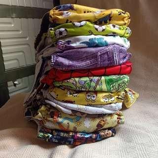 11pcs Cloth diaper (PUL assorted)