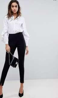 Missguided skinny cigarette trousers in black