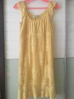 90% new forever 21 one piece yellow