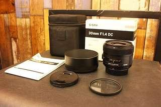 Sigma 30mm f/1.4 DC ART lens for Nikon DSLR