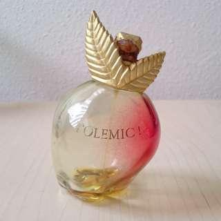 Used apple shaped perfume bottle with a bit of perfume left