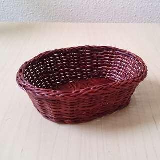 Mini rattan basket for display