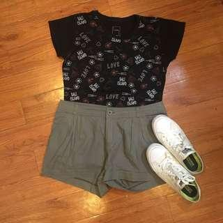Forever21 Grayish Green Shorts