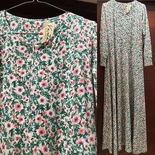 Gamis Jersey flowers 🌸