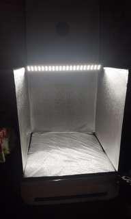 60×60×60CM 可摺疊 Photo Box 室內攝影棚 連LED燈2個