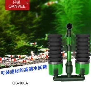 Qanvee Sponge Filter for Aquarium Fish Tank