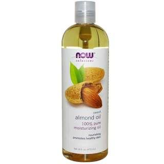 473ml Pure Sweet Almond Oil, Now Foods Solutions