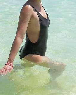 Black One Piece Swim Suit