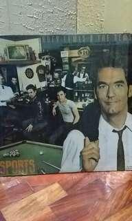"Huey Lewis and The News ""Sports"" LP vinyl music record"