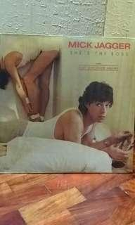"Mick Jagger ""She's the Boss"" LP vinyl music record"