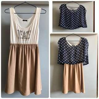 Top + dress (wear in 3 ways) #SELLITNOW