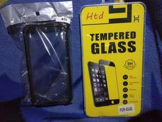 4G/4S SHOCK PROOF CASE AND TEMPERED GLASS