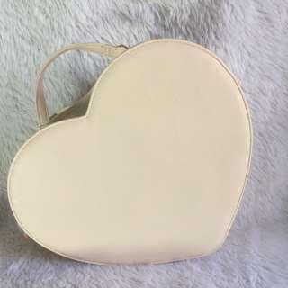 Heart Shape 3-Way Bag Ivory
