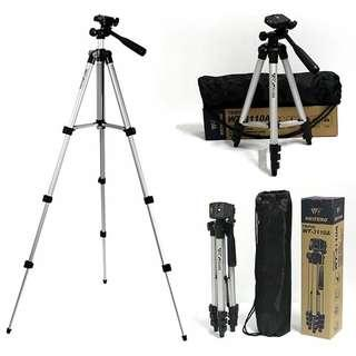 WEIFENG WT3110A Camera Tripod With 3-Way Head Tripod WT-3110A for Canon Nikon Pentax Digital Camera DV Camcorder Phone
