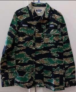 A Bathing Ape 虎紋4袋恤衫