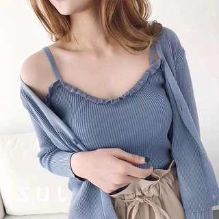 🚚 Knitted Frill-edge top