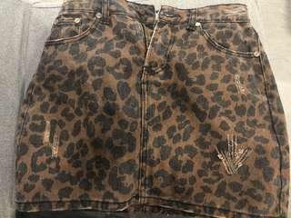 New Leopard print skort