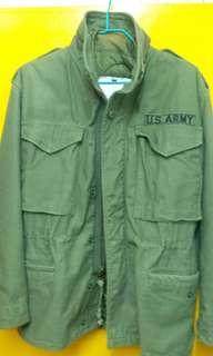 旱有X-SMALL 美軍M65 軍褸連內裡保暖棉衫