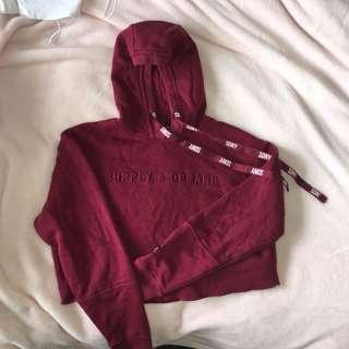 Supply and demand cropped hoodie