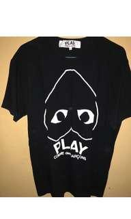 CDG PLAY BLACK TEE