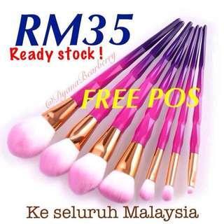 Diamond pink-purple brushes 7pcs #Halloween50